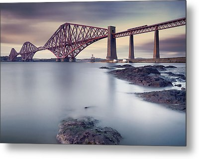 Forth Rail Bridge Metal Print by Martin Vlasko