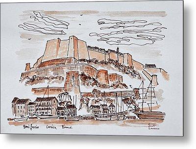 Fortified City Of Bonifacio, Corsica Metal Print