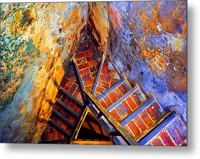 Fortress Steps Metal Print by Stephen Anderson