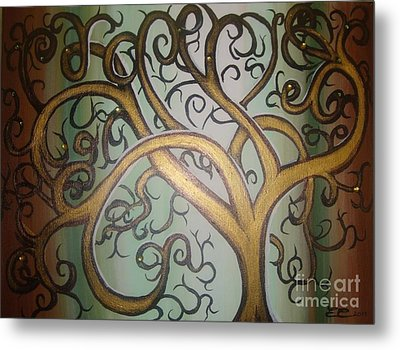 Fortune Tree Metal Print by Elena  Constantinescu