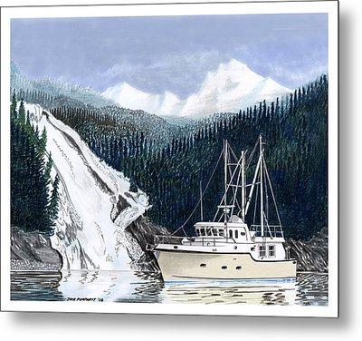 Forty Foot Nordhavn Northern Anchorage Metal Print by Jack Pumphrey