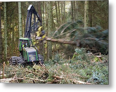 Forwarder Forestry Vehicle Metal Print by Ashley Cooper