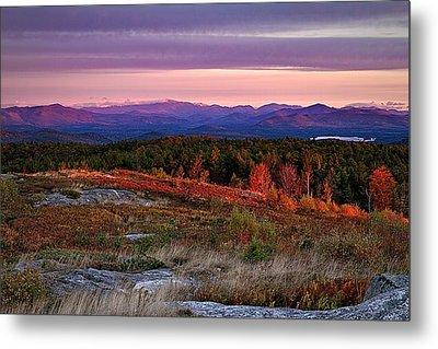 Foss Mountain Sunrise Eaton Nh Metal Print by Jeff Sinon