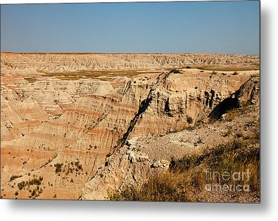 Fossil Exhibit Trail Badlands National Park Metal Print
