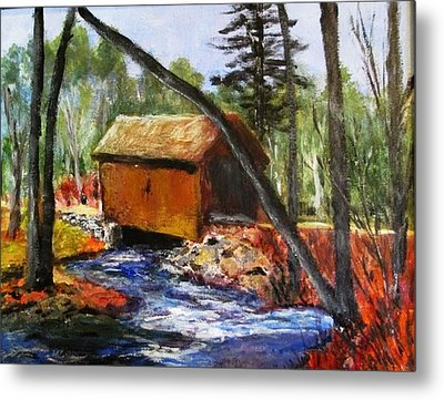 Foster Covered Bridge  Metal Print by Art  Stenberg