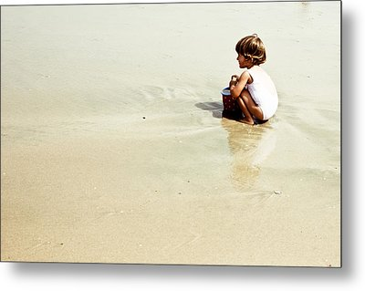Found In The Sea Metal Print by Alejandra Pinango