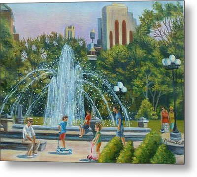 Fountain At Washington Square Park New York Metal Print