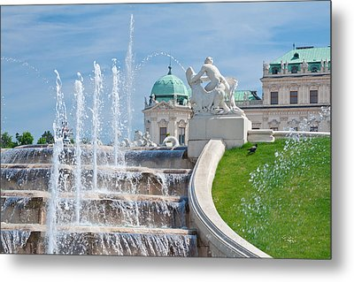 Fountain Cascades Metal Print by Viacheslav Savitskiy