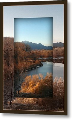 Fountain Creek To Pikes Peak Metal Print by Michelle Frizzell-Thompson