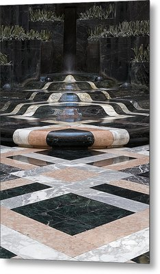 Metal Print featuring the photograph Fountain Flow by Glenn DiPaola