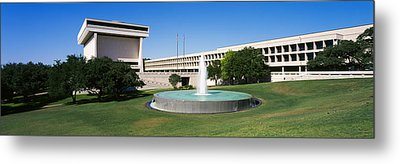 Fountain In Front Of A Library, Lyndon Metal Print