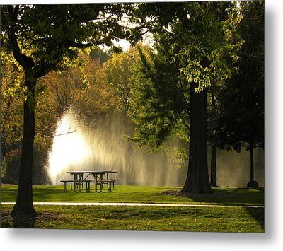 Metal Print featuring the photograph Fountain Mist by Teresa Schomig