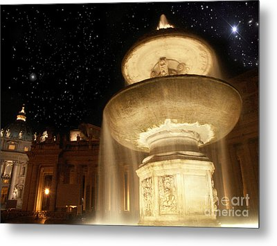 Fountain Of San Peter Metal Print by Sandro Rossi