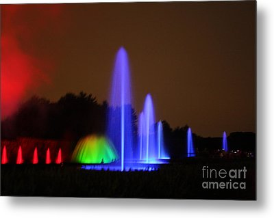 Fountain Show At Longwood Gardens Metal Print by Vadim Levin