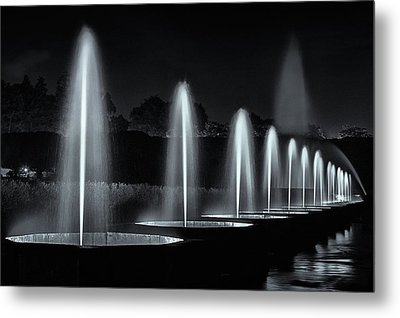 Fountains And Lights Metal Print by Eduard Moldoveanu