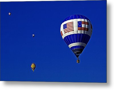 Four Balloons Up Metal Print by Andy Crawford