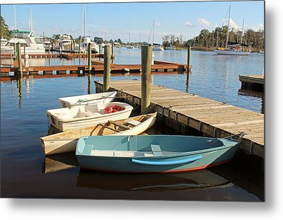 Metal Print featuring the photograph Four Boats  by Cynthia Guinn