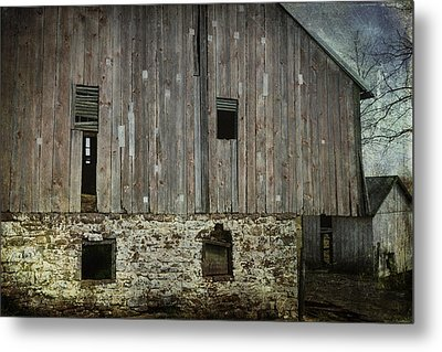 Four Broken Windows Metal Print by Joan Carroll