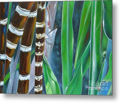 Four Canes For Green Metal Print