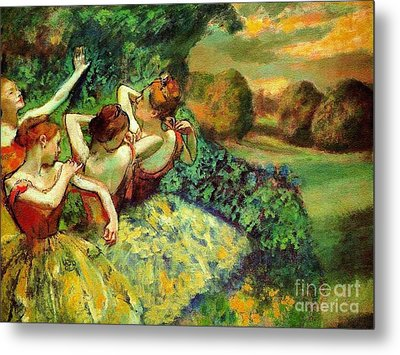 Four Dancers Metal Print by Pg Reproductions
