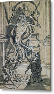 Four Grave Robbers Awaken A Ghost Metal Print