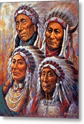 Four Great Lakota Leaders Metal Print