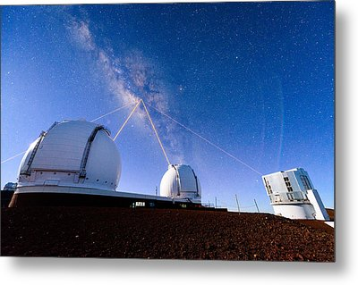 Four Lasers Attacking The Galactic Center Metal Print
