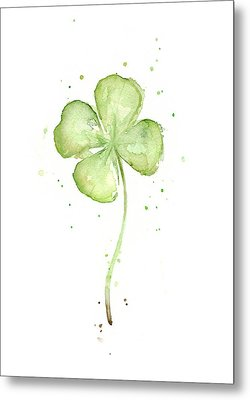 Four Leaf Clover Lucky Charm Metal Print