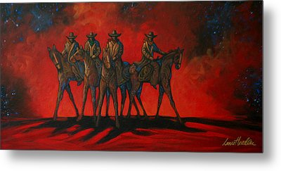 Four On The Hill Metal Print by Lance Headlee