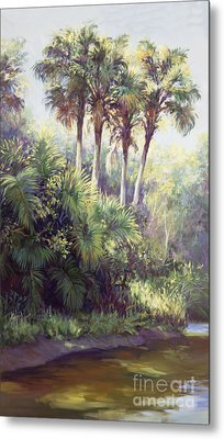 Four Palm Plaza Metal Print by Laurie Hein