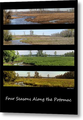 Four Seasons Along The Potomac Metal Print