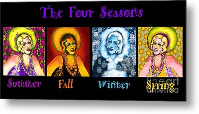 Four Seasons In A Row Metal Print by Carol Jacobs