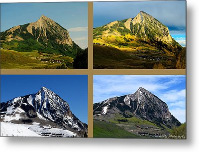 Four Seasons Of Mt. Crested Butte Metal Print by Mike Schmidt