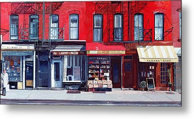 Four Shops On 11th Ave Metal Print by Anthony Butera