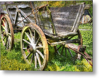 Four Wheels But No Horse Metal Print by Heiko Koehrer-Wagner