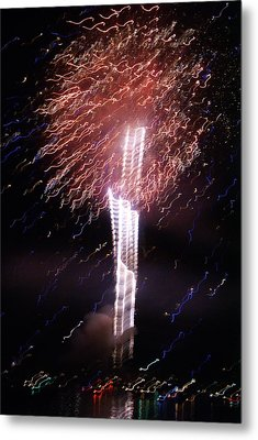 Fourth Of July Grand Lake Co 2007 Metal Print by Jacqueline Russell