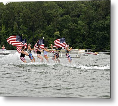 Fourth Of July On The Lake Metal Print by Susan Leggett