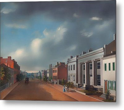 Fourth Street East From Vine Metal Print by Mountain Dreams