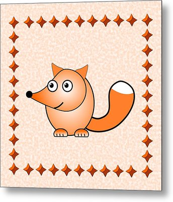 Fox - Animals - Art For Kids Metal Print by Anastasiya Malakhova