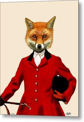 Fox Hunter 2 Portrait Metal Print by Kelly McLaughlan