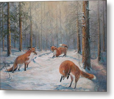 Forest Games Metal Print by Donna Tucker
