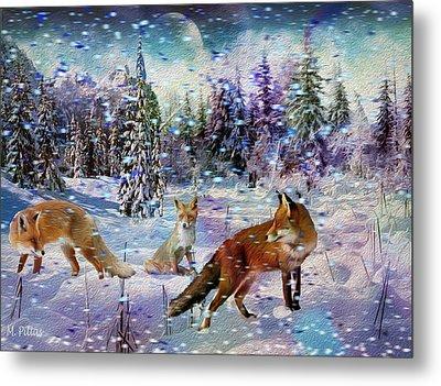 Fox Storm Metal Print