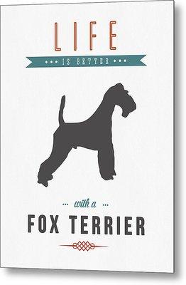 Fox Terrier 01 Metal Print