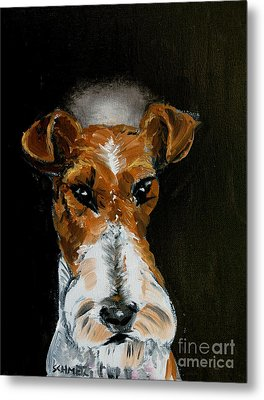 Fox Terrier Angel Metal Print by Jay  Schmetz