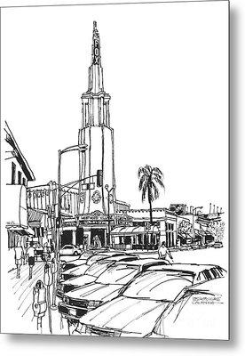 Fox Theater Westwood Village California Metal Print