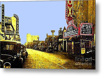 Fox Theatre In Hackensack N J In 1935 Metal Print
