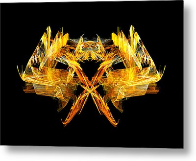 Metal Print featuring the digital art Foxfire by R Thomas Brass