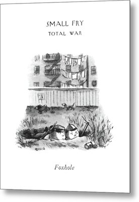 Foxhole Metal Print by William Steig