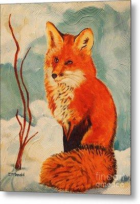 Foxy Presence Metal Print by Janet McDonald