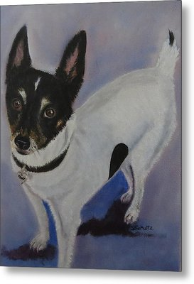 Metal Print featuring the painting Foxy by Sharon Schultz